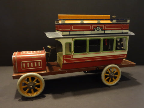 BING DOUBLE DECKER BUS wind up 1910