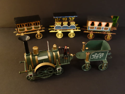BUCHNER 1870 HANDPAINTED TRAIN AND COACHES Reproduction