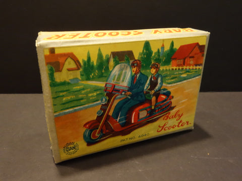 MARUSAN BABY SCOOTER MOTORCYCLE mint original box only 1950