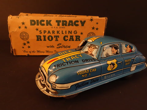 MARX DICK TRACY BLUE Sparkling Car 1940 + BOX