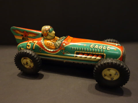 I.Y.METAL TOYS EAGLE Racer #57 Made in Japan 1950
