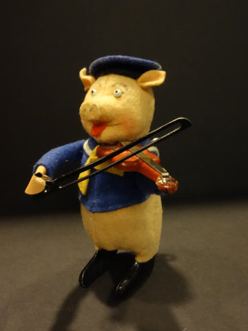 SCHUCO VIOLONIST Walt DISNEY 3 Little pigs 1935 Mint