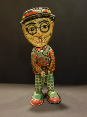 KURAMOCHI Mechanical HAROLD LLOYD Tin toy 1925 JAPAN
