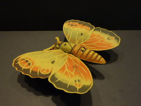 BUTTERFLY Large Mechanical tin GERMANY 1920