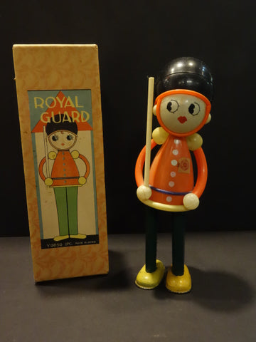 Toy Town ROYAL GUARD Celluloid and tin + Box Japan 1930