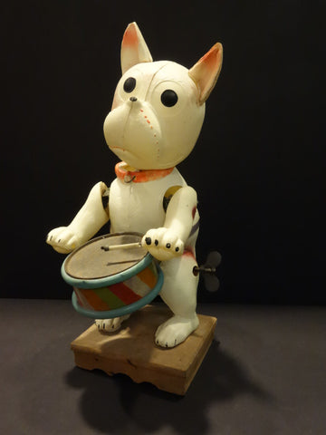 KS BOZO the Dog Mechanical Drummer Celluloid Japan 1930