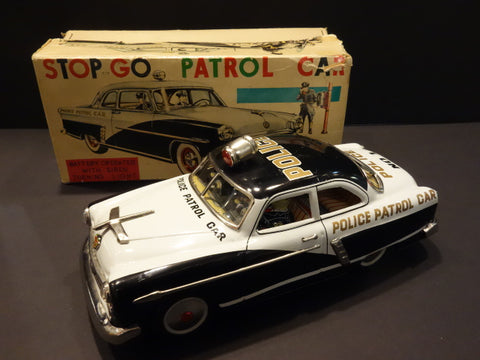 MARUSAN FORD Police Patrol CAR STOP- GO + original box 1954