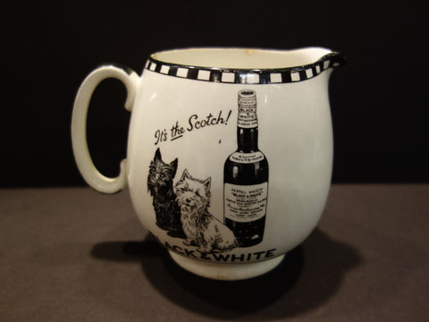 BLACK & WHITE It s the scotch SHELLEY JUG PITCHER 1930