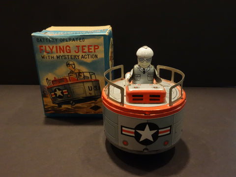 KOMODA USAF FLYING JEEP + original box space toy robot 1959