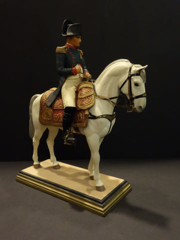 FOUILLE NAPOLEON on his horse FINE PAINT FIGURE