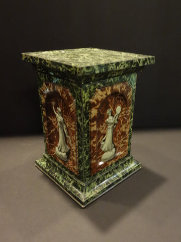 HUNTLEY PALMERS 4 Seasons Pedestal Biscuit tin Box 1930