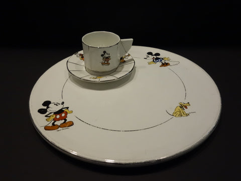 ONNAING Mickey Mouse large plate Walt Disney France 1930