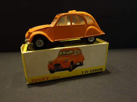 DINKY TOYS #500 Citroen 2CV Orange 1975 + Box