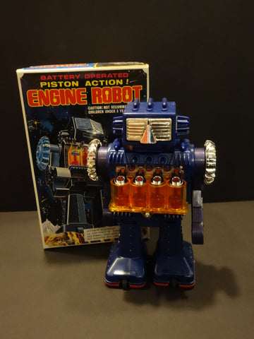 HORIKAWA Engine Robot Piston Action MIB Ex shop stock 1969 JAPAN