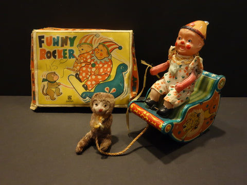 BANDAI Funny Rocker Circus Toy Celluloid & Tin 1950