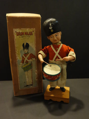 KURAMOCHI  Large Celluloid Drum Major Japan 1930