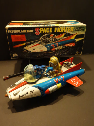 NOMURA INTERPLANETARY Space Fighter + Original box 1963