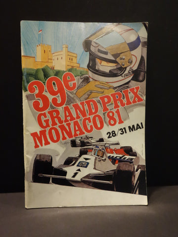 GRAND PRIX MONACO 1981 Original Program