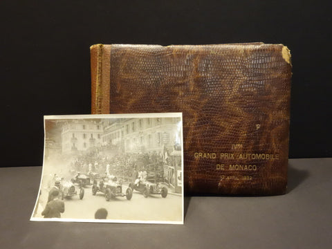 4° GRAND PRIX AUTOMOBILE MONACO 1932 Original Photo Album