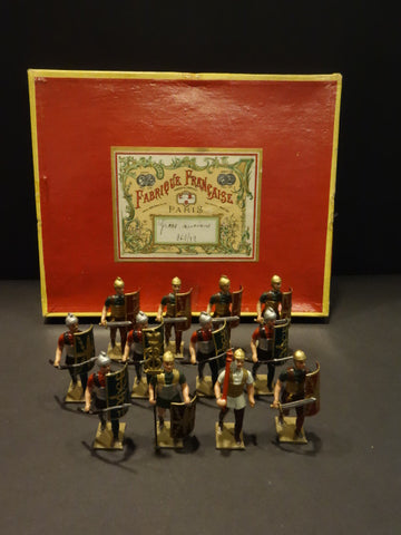 CBG-MIGNOT 12 ROMANS SOLDIERS  Mint + Box 1930-50