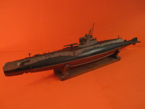 LARGE SUBMARINE USS S32 Handpainted wooden model WW2