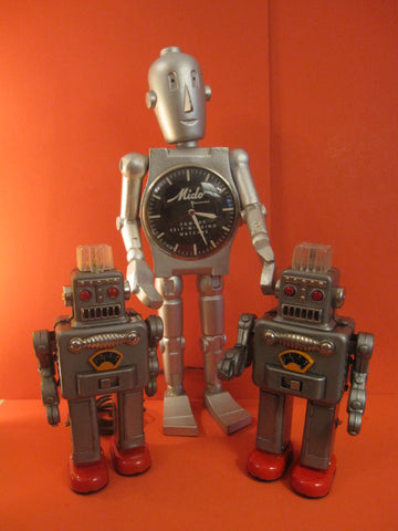 MIDO Robot Watch Shop Display Advertise 1950