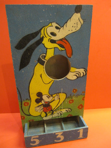 WALT DISNEY Mickey Pluto Wooden Game France 1930