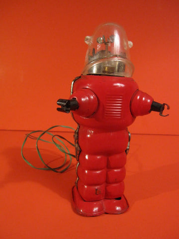 YOSHIYA RED ROBBY Space Robot Trooper<p> Battery operated 1956