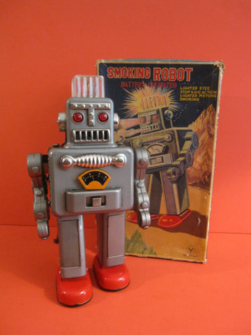 YONEZAWA Smoking Robot + Original Box 1960