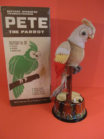 MARX Pete the Parrot + original box 1960