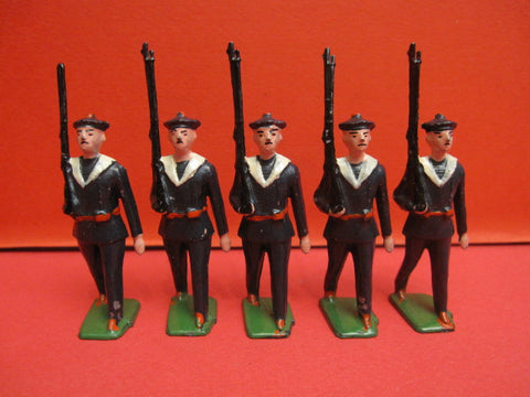 CD 5 French Sailors toy soldiers hollow lead 1930