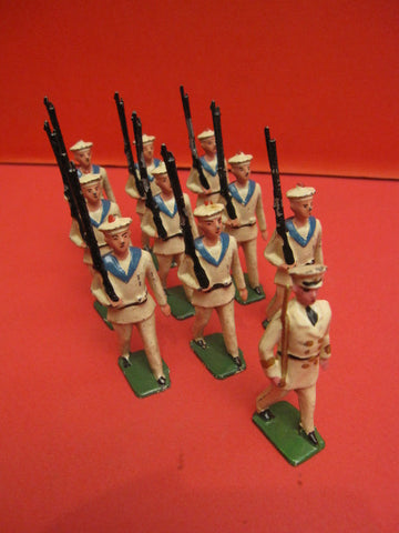 CD 10 French Sailors toy soldiers hollow lead 1930