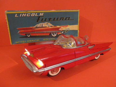 ALPS LINCOLN FUTURA Battery operated with lights MINT + BOX 1956