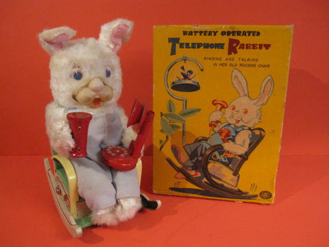 MASUDAYA TELEPHONE RABBIT + Original Box 1960