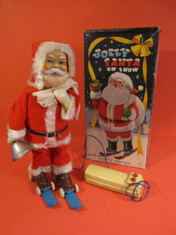 ALPS Jolly Santa on Snow  + Original Box 1960