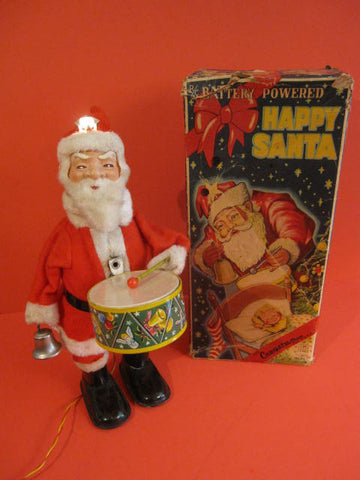 ALPS Happy Santa with Drum  + Original Box 1950