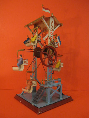 DOLL Hanpainted Ferris Wheel 1920