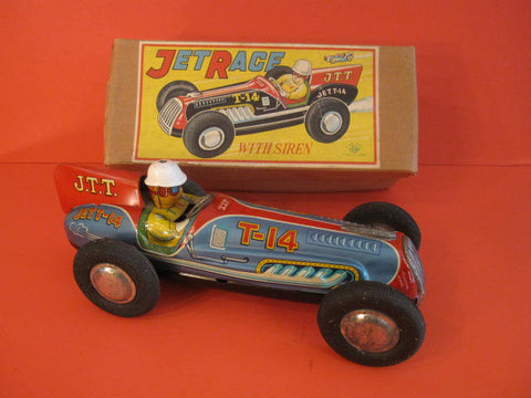 NOMURA Large Racing car T-14 + Original Box 1950