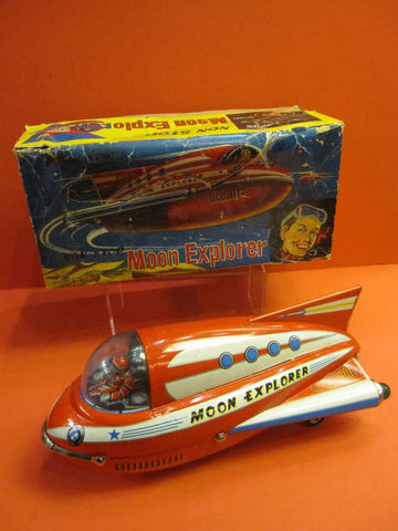 MASUDAYA Moon Explorer Rocket + Original Box 1963