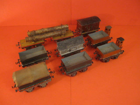 SCHOENNER 9 Handpainted freight cars 1895 Gauge I TRAIN