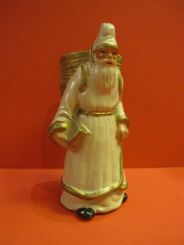 SANTA CLAUS with Book Candy Container France 1940