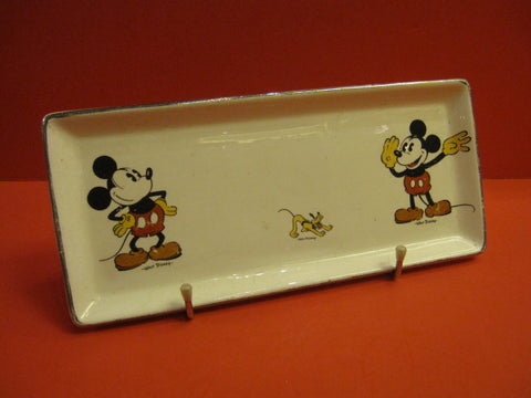 ONNAING Mickey Mouse CAKE plate Walt Disney France 1930