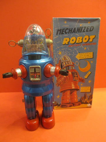 OTTI  ROBBY BLUE Mechanized Robot MIB