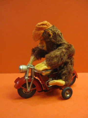 GUNTHERMANN MOTORCYCLE with MONKEY RIDER 1950 Mint condition