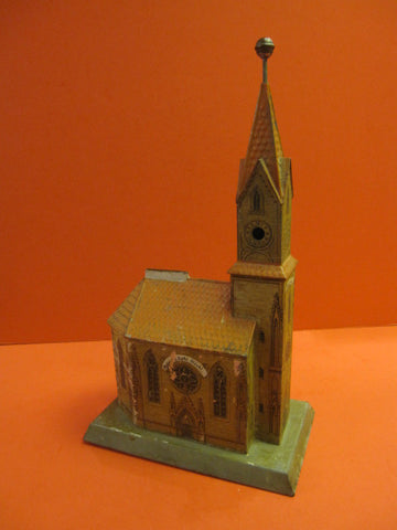 Tin toy Church Building Still Bank Germany 1906
