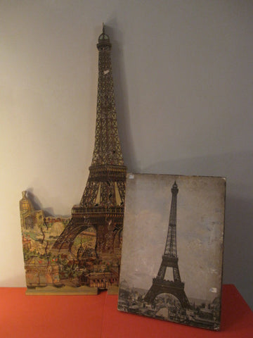 "PARIS EIFFEL Tower 40"" wooden puzzle world fair 1889 + Box"
