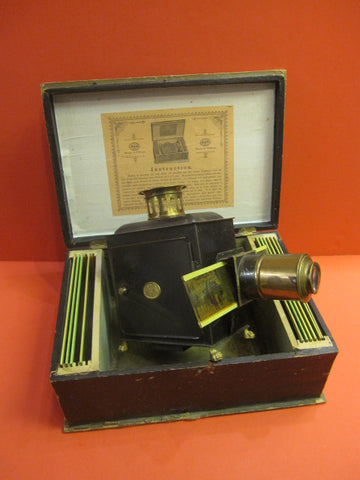 ERNST PLANCK Magic Lantern Laterna magica 1880 + Box