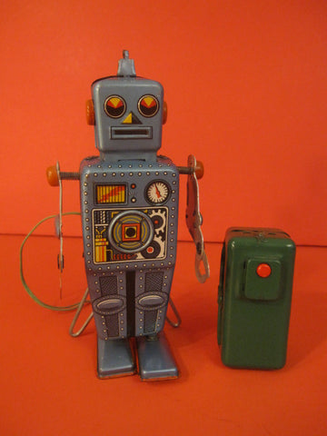 LINEMAR Domed Easel back Robot Battery Operated Japan 1958