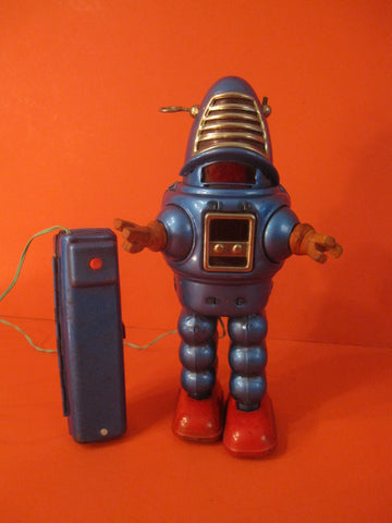 YOSHIYA Blue Robby Planet Robot Rubber hands 1962