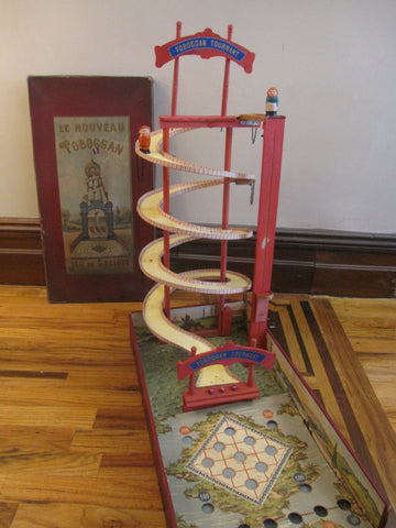 ANTIQUE GAME The new rotating slide 1900 France